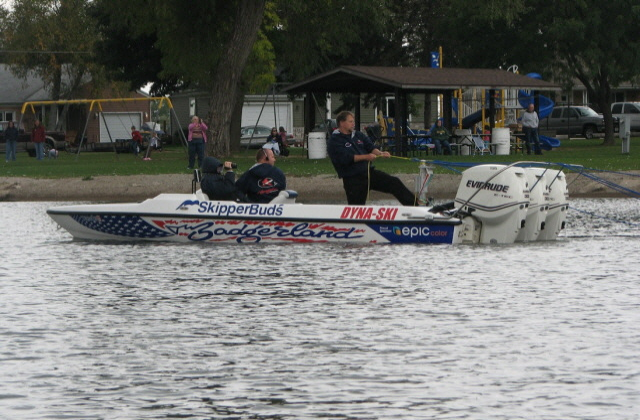 Pulling a tube with a bass boat